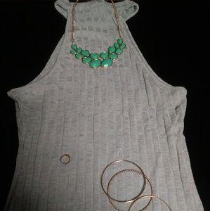Dresses & Skirts - Grey Thin Nitted Print Dress
